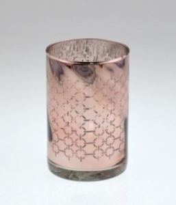 Hot Sell Glass Candle Cylinder for Christmas pictures & photos
