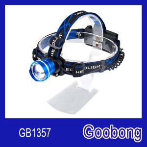 Super Bright T6 LED Rechargeable Zoom Headlamp