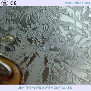 Acid Etched Satinized Glass for Partitions Glass/Wall Glass/Shower Screens Glass pictures & photos