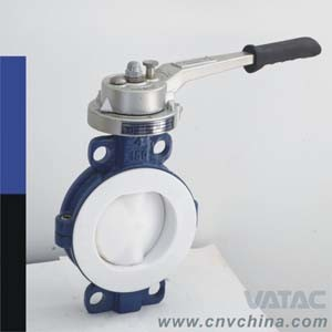 Vatac Cast Steel Wafer Type Resilient Seal Butterfly Valve pictures & photos