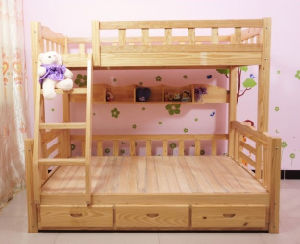 Solid Wood Bunk Bed Simple Bunk Bed Kids Bed (M-X1033) pictures & photos
