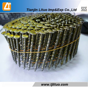 UK Market Ring Shank Coil Nail, Electric Galvanized pictures & photos