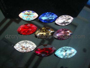 Point Back Crystal Glass Stone in Navette Shaped pictures & photos