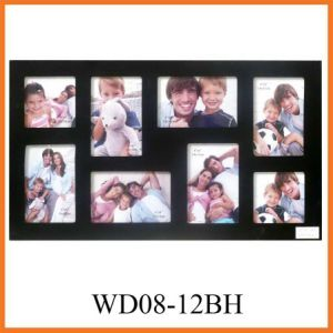 8-Opening Black MDF Photo Frame (WD08-12BH)