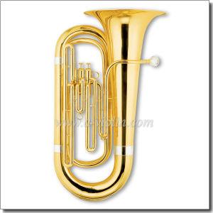 3 Valves Gold Lacquer Bb Key Piston Tuba (TU9901) pictures & photos