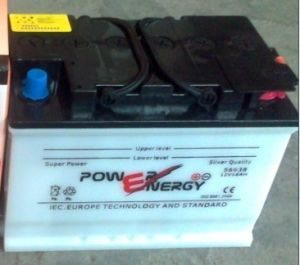DIN66 12V66ah Dry Charged Lead Acid Car Battery pictures & photos