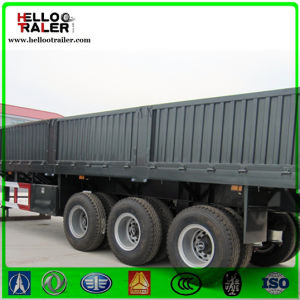2016 3 Axles 40tons Cargo Trailer Side Wall Semi Truck Trailer pictures & photos