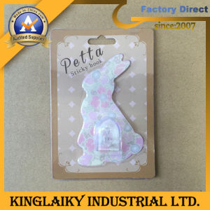 Customized Transparent PVC Sticky Hook for Promotion/Advertising Gift (KH-4) pictures & photos