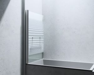 Pivot Frameless Hinged Tub Door pictures & photos