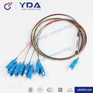 Sc Upc 1X8 Mini Steel Tube Fiber Optic PLC Splitter Mini Type PLC Splitter Steel Tube PLC Splitter Micro PLC Splitter Cable with Sc Connector pictures & photos