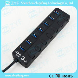 7 Switches 7 Port USB 3.0 Hub (ZYF4126) pictures & photos
