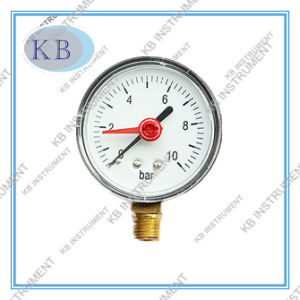 Black Steel Case Pressure Gauge with Red Adjustable Pointer pictures & photos
