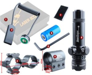Green Laser Sight DOT Scope with Free 20mm Dovetail Mount 8 Figure Mounts pictures & photos