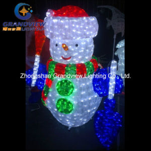 Acrylic LED Snowman for Holiday Lighting with CE RoHS pictures & photos