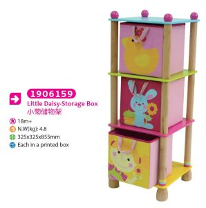 Children Furniture Wooden Toy Storage Shelf Storage Box for Kids pictures & photos