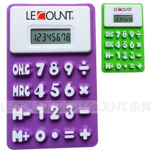 Silicon Foldable Calculator with Magnet (LC511B) pictures & photos