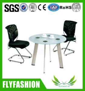 Office Furniture Waiting Room Glass Coffee Table with Chair (OD-195) pictures & photos