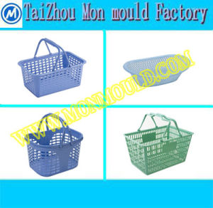 Plastic Storage Supermarket Shopping Basket Mold pictures & photos