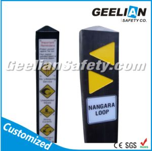 Australian Standard Recycled Plastic Warning Bollard pictures & photos