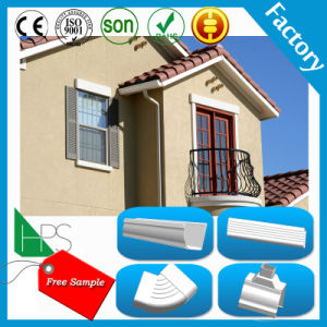 Free Sample Factory Price Black and White Half Round PVC Gutter Plastic Gutter pictures & photos