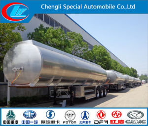 3 Axles Aluminum Alloy Fuel Tank Semi Trailer, 42000 Liters Fuel Tank Trailer, Aluminum Alloy Fuel Tanker Semi Trailer pictures & photos