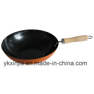 Kitchenware Orange Carbon Steel Non-Stick Cookware Wok pictures & photos