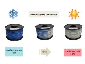 Color Changed ABS 1.75mm 3D Printing Filament for Printer pictures & photos