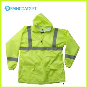 High Quality Waterproof Nylon Rain Jacket with Reflective Tape pictures & photos