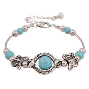 Beautiful Fashion Jewelry Tibetan Silver Turquoise Bracelet