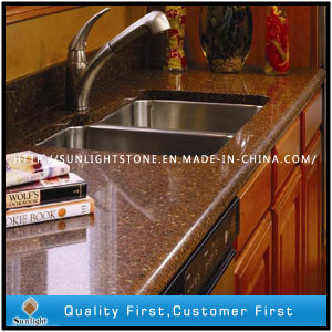 Best Engineered Artificial Quartz Stone Worktops and Kitchen Countertops pictures & photos