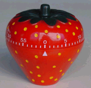 Strawberry Shape Mechanic Plastic Material Timer pictures & photos