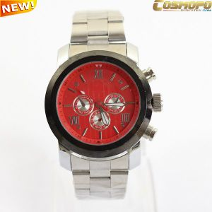 Red Dial Men Metal Watch with Three Crowns (SA1139)