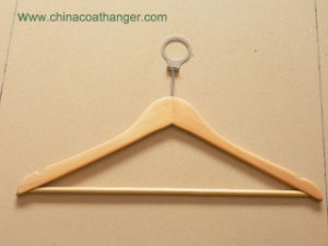 Brown Basic Wooden Hanger Closet Bar Hotel Coat Hanger pictures & photos