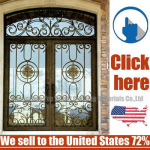 Cheap Price Steel Wrought Iron Door pictures & photos