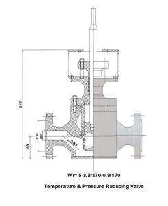Wy15-3.8/370-0.8/170 Temperature & Pressure Reducing Valve