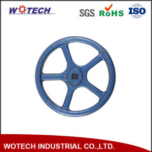 OEM Powder Coating Surface Treatment Sand Casting Iron Hand Wheel pictures & photos