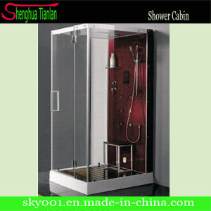 Suquare Wooden Seat Bathroom Massage Steam Shower Cabin (TL-8809) pictures & photos