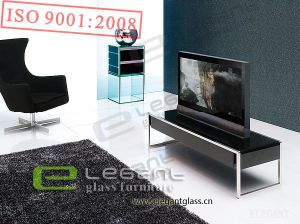 Home Furniture - Bend Glass TV Stand with Drawer-T321 pictures & photos