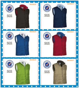 Reversible Windproof, Waterproof and Breathable Woven Quilted Vest for Men pictures & photos