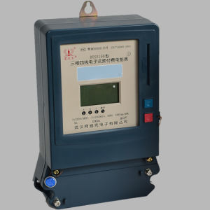 Newest Three Phase Electric Tough Enclosure Covered Prepayment Digital Meter pictures & photos
