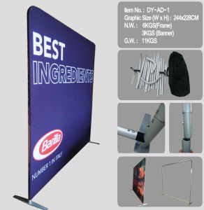 Customized Fabric Wall System 8FT/10FT/15FT Display Stand (DY-AD-1) pictures & photos
