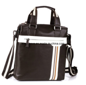 Latest Good Quality PU with Good Color Combination Men Business Bag (KCM13) pictures & photos