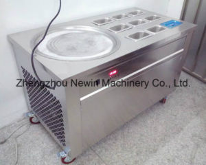One Pan with 9 Topping Fry Ice Cream Roll Machine pictures & photos