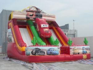 Inflatable Slide, Cars Speedway Giant Slide (B4059) pictures & photos