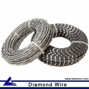 Stone Cutting Diamond Wire Cable with Rubber and Spring Coated pictures & photos