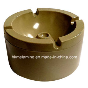 Round Melamine Windproof Ashtray with Lid (AT5886) pictures & photos