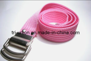 Beautiful New Design Lady′s Pink Belt (YX-L00033)