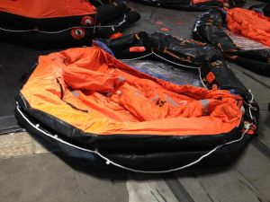 Throw Overboard Inflatable Life Raft for Marine Lifesaving pictures & photos