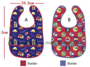 PEVA Waterproof Printed Baby Bibs pictures & photos