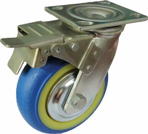 4/5/6/8 Inch Heavy Duty TPR Noiseless Caster with Double Brake pictures & photos